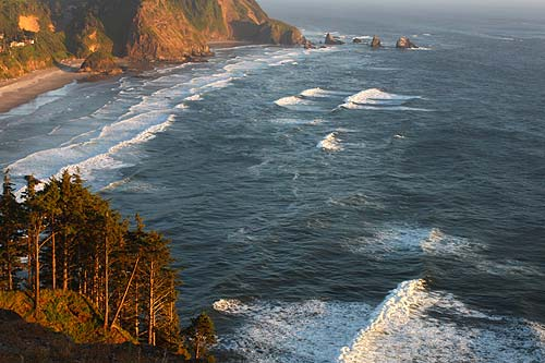 Five Nearly Aerial Viewpoints of N. Oregon Coast – and Their Secrets
