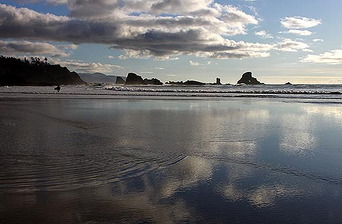 Photo: more dramatic cloud scenes like this at Ecola State Park