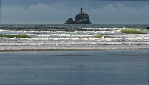 Indian Beach, View of Lighthouse, Cannon Beach, Oregon ...
