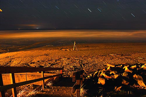 Tolovana at night and starfall