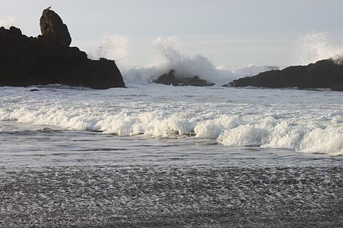 Oregon, Coast Range and Beaches: Snow Melt, Flood Watch, Big Waves
