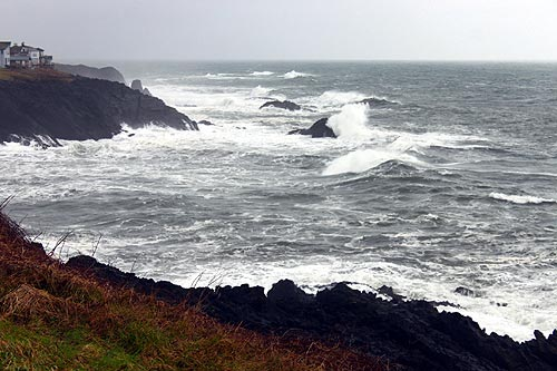 Double storm for oregon coast high wind watch walloping Depoe bay aquarium
