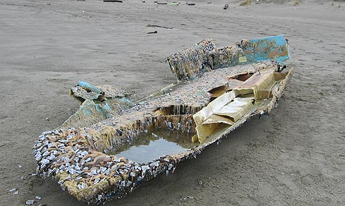 Oregon coast tsunami debris update boat removed sign for Fishing in lincoln city oregon