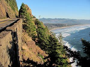 Oregon Coast Map And Mileage Chart Map Of Oregon Coast