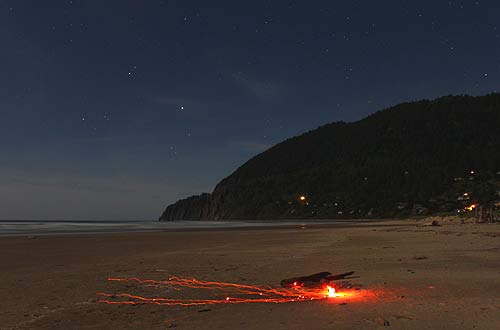 Photo: be careful of what you do with bonfires, as in this photo of Manzanita