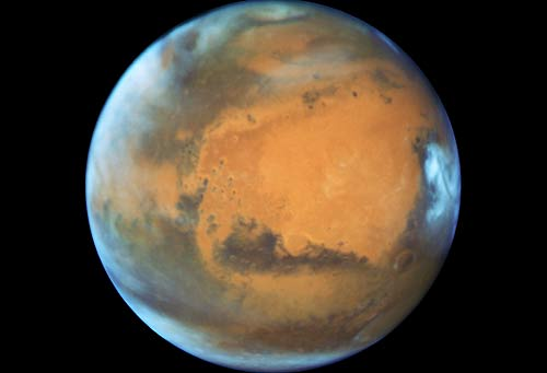 Mars is a bright red star in the skies over inland Oregon and the coast right now,