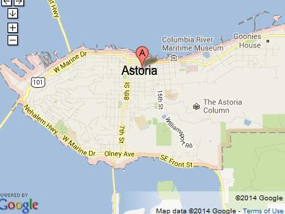 Map of Astoria