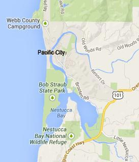 Pacific City, Oregon Coast map