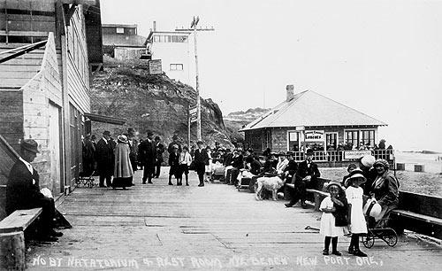 Historical photo of Nye Beach, Newport