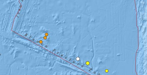 Three Small Quakes Rattle Offshore from Yachats, Central Oregon Coast