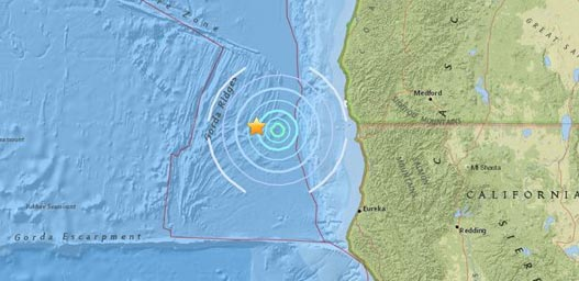 Small Quake Shakes Just Off Oregon Coast, California Coast