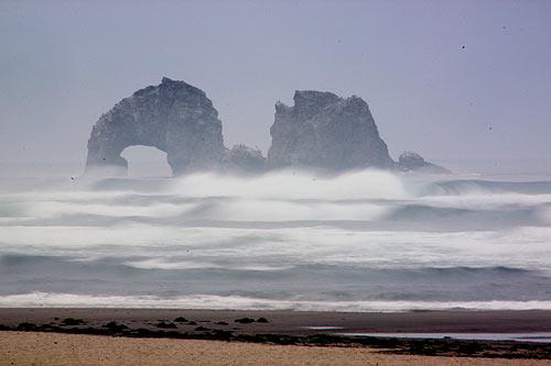 Stormy Rockaway Beach
