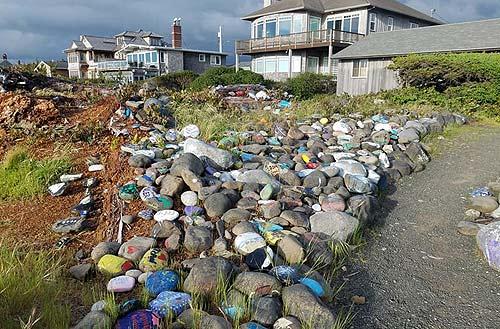 Painted Rocks Movement On Oregon Coast Big Rock Garden Of