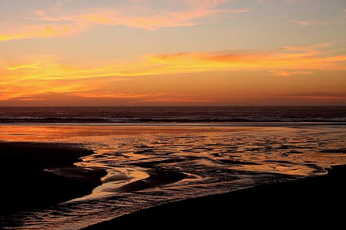 (Photo: sunset in Yachats