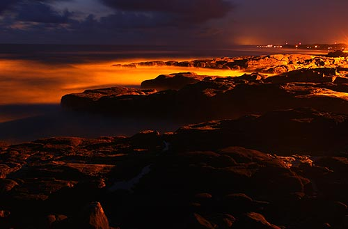 Photo: Yachats at night, but this is probably what it looked like as a lava field