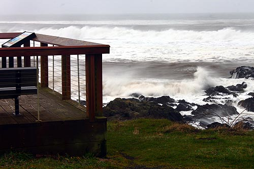 Storm Warnings Now in Effect for Oregon Coast - High Surf on Friday