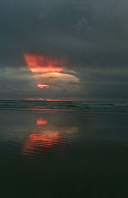 Weird Sunset Seaside. Taken one October in recent years, it's a ...